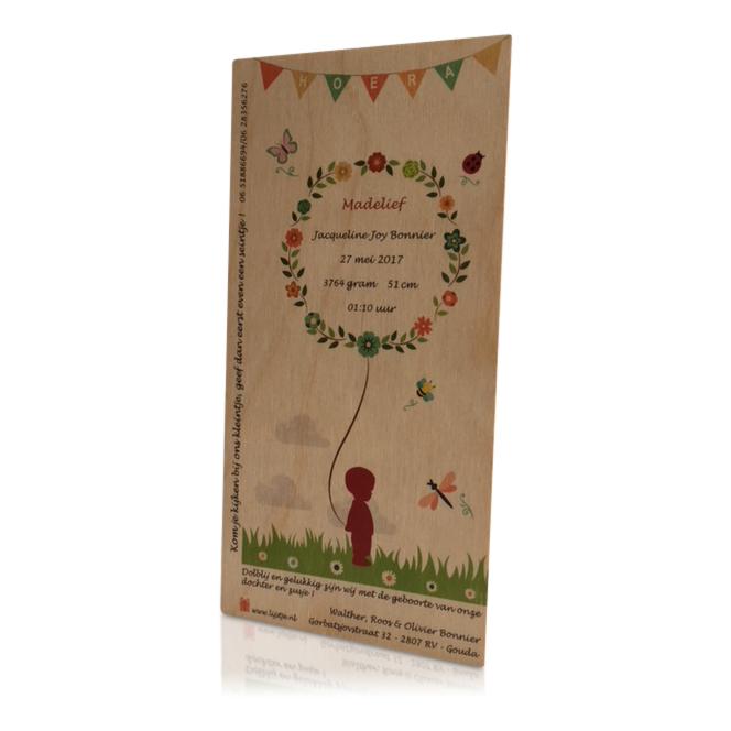 proefkaartje kaart op hout