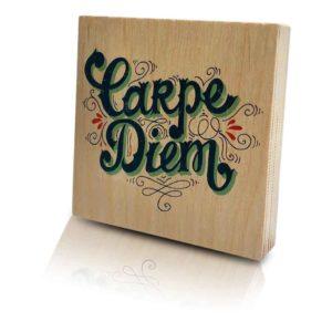 Houten-Quoteblok-Carpediem
