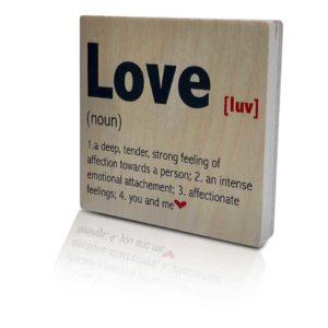 Houten-Quoteblok-Love-luv-noun