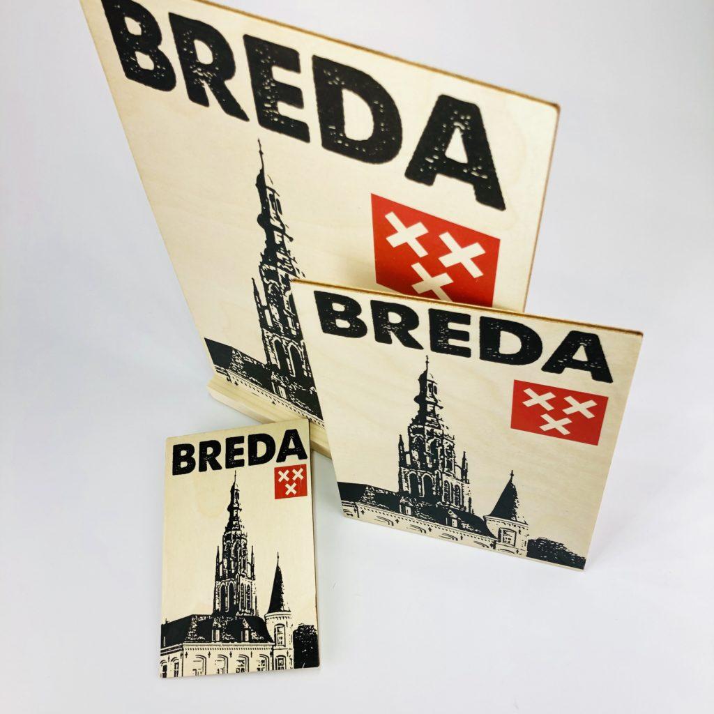 Breda houten kaart