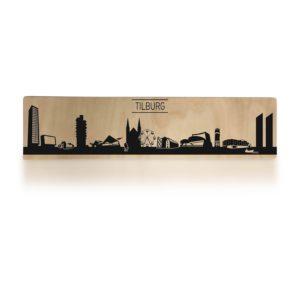 Typisch Tilburg Skyline op hout