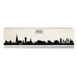 Typisch Breda Skyline op hout