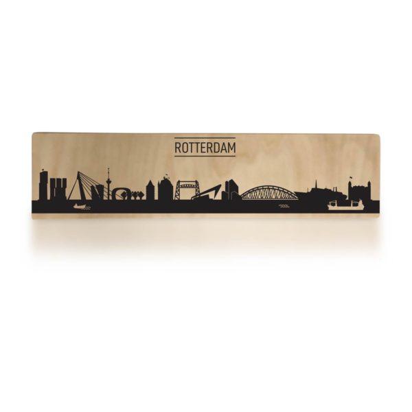 Typisch Rotterdam skyline op hout