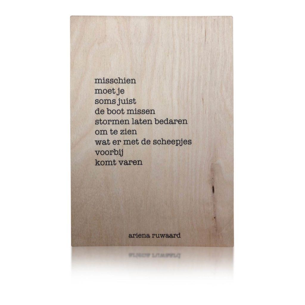 Houten Kaart | Ariena Ruwaard | Misschien
