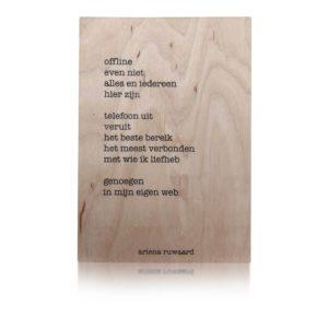 Houten Kaart   Ariena Ruwaard   Offline