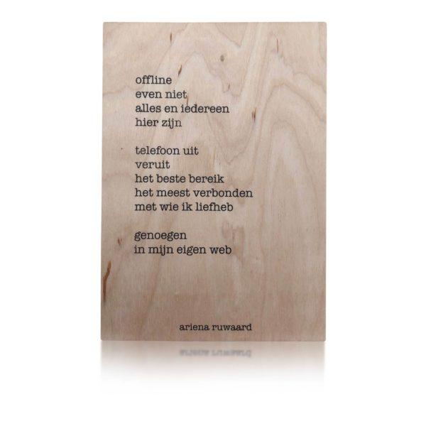 Houten Kaart | Ariena Ruwaard | Offline