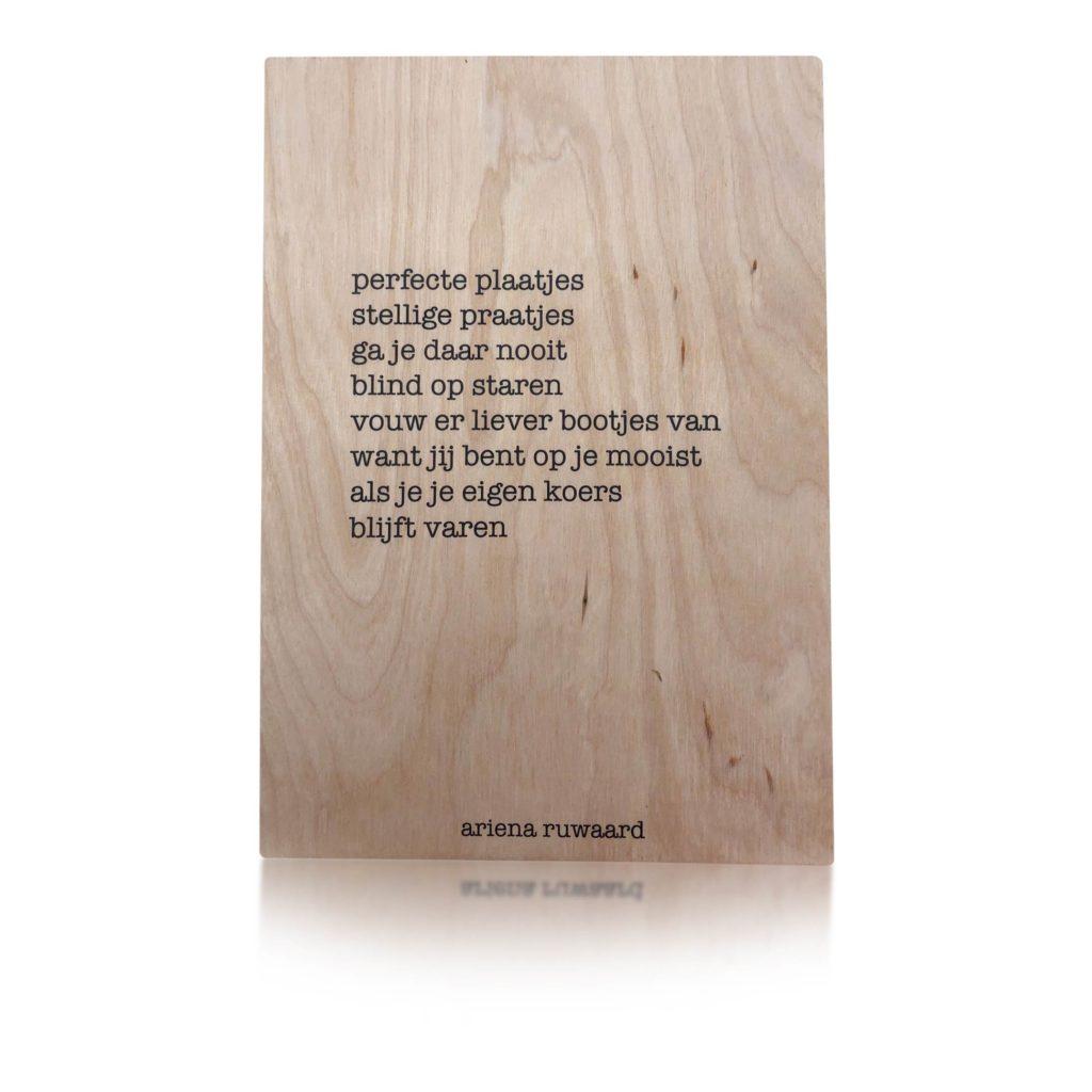 Houten Kaart | Ariena Ruwaard | Perfecte Plaatjes
