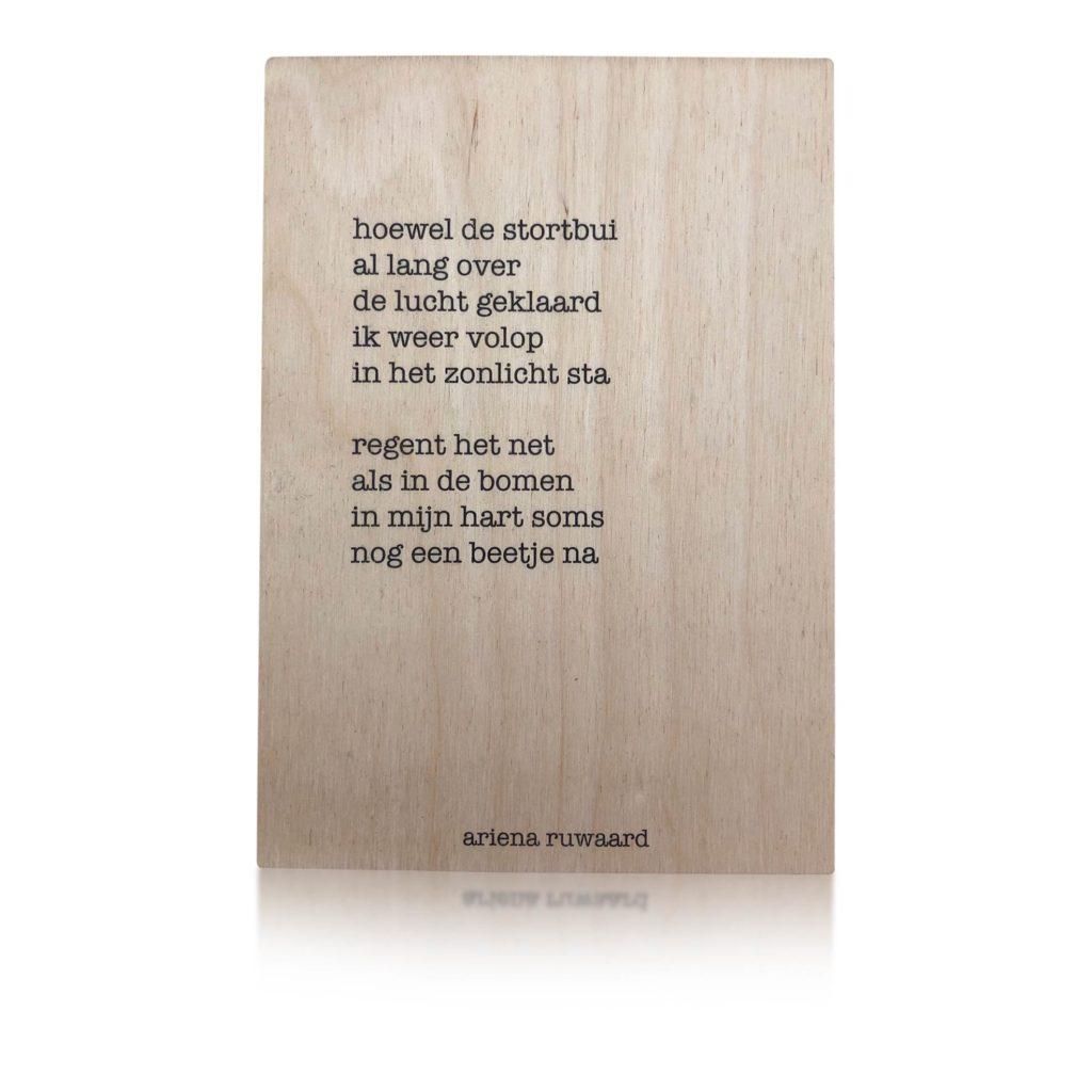 Houten Kaart | Ariena Ruwaard | Stortbui