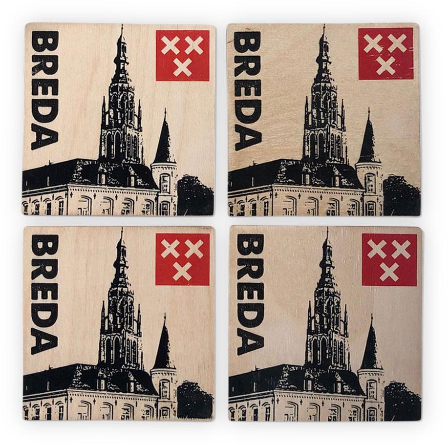 Onderzetters Grote kerk Breda