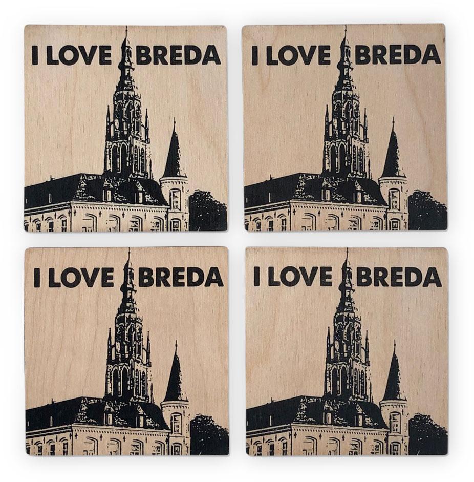 Onderzetters I love Breda