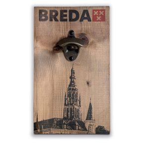 Flesopener Breda op steigerhout