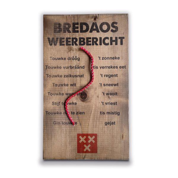Bredaos weerbericht op steigerhout